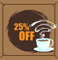 banner coffee 25 off image vector image vector image