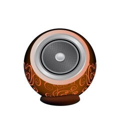 dark orange audio speaker vector image
