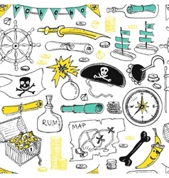 Pirates seamless pattern vector