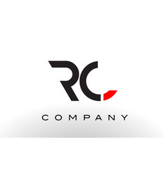 rc logo letter design vector image vector image