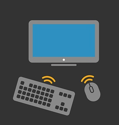 Wireless computer equipment vector image vector image