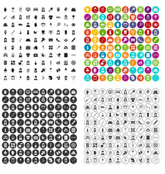 100 midwife icons set variant vector