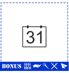 31 calendar days icon flat vector
