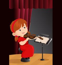 a girl playing violin vector image