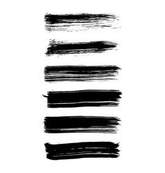 a set grunge brush strokes brush stroke vector image