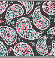 Abstract paisley seamless pattern vector
