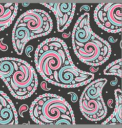 abstract paisley seamless pattern vector image