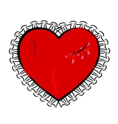 Abstract wounded heart vector