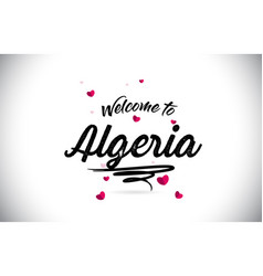 Algeria welcome to word text with handwritten vector