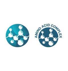 Amino acid complex circular icon vector