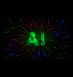 artificial intelligence conceptual banner vector image