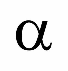 Black alpha symbol vector