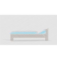 Blue bed vector
