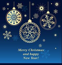 blue christmas frame vector image