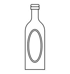 bottle wine cap blank label outline vector image