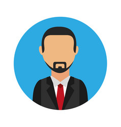 Businessman character isolated icon vector