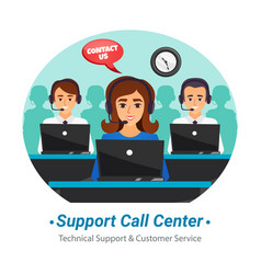 Call center operators flat composition vector