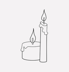 candles icon line element of vector image