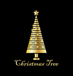 christmas design logo template vector image