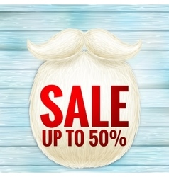Christmas sale with beard Santa EPS 10 vector image