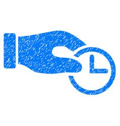 Clock properties grunge icon vector