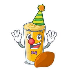 Clown lassi mango in the character fridge vector