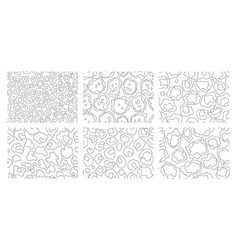 collection leopard textures coloring style vector image