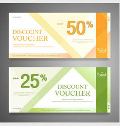 Colorful and modern discount voucher or gift vector