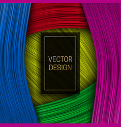 colorful ribbon background with rectangular black vector image