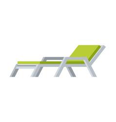 Comfortable lounger deck chair modern garden or vector