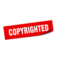 Copyrighted sticker copyrighted square isolated vector