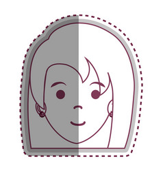 Cute woman avatar character vector