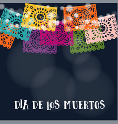 Dia de los muertos or halloween card invitation vector