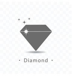 Diamond icon on transparent vector