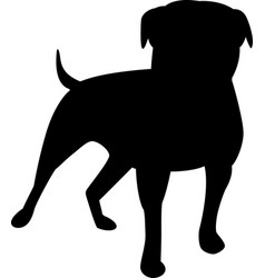 dog black icon vector image