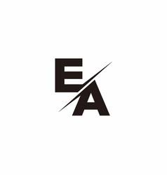 Ea logo letter monogram slash with modern logo vector