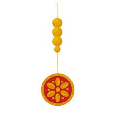 Ethnic mandala decorative hanging icon vector