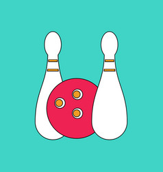 Flat icon design collection kids bowling vector