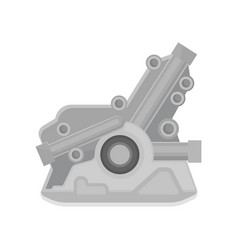 Flat icon of automotive engine motor of vector