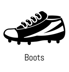 football boots icon simple black style vector image