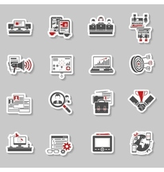 Freelance concept stickers collection vector