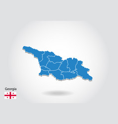 Georgia map design with 3d style blue georgia map vector