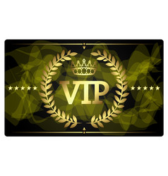 gold vip card design vector image