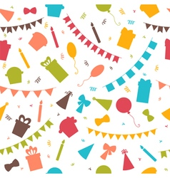 Happy Birthday seamless pattern with colorful vector