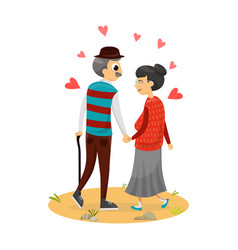 happy cute couple vector image