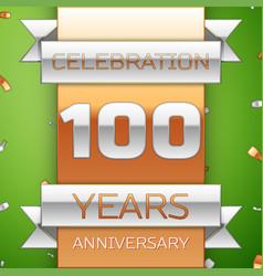 hundred years anniversary celebration design vector image