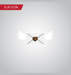 Isolated mail flat icon letter element can vector