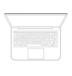 laptop computer notebook outline vector image