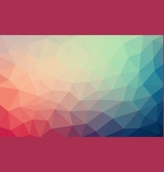 light blue red low poly crystal background vector image