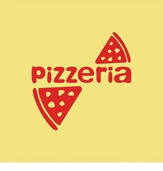 Logo for pizzeria vector image